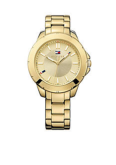 Tommy Hilfiger Women's Casual Sport Gold-Tone Watch