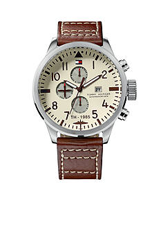 Tommy Hilfiger Men's Sport Multifunction Brown Watch