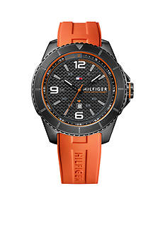 Tommy Hilfiger Men's Sport Orange Silicon Watch
