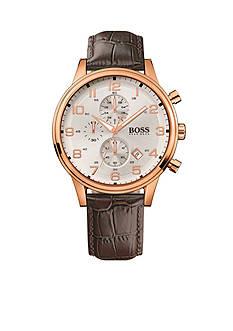 BOSS by Hugo Boss Men's Rose Gold-Tone Aeroliner Watch