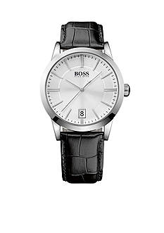 BOSS by Hugo Boss Men's Leather Croc-Embossed Strap 3-Hand Quartz Success Watch