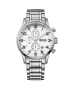 BOSS by Hugo Boss Men's Aeroliner White Dial Stainless Steel Watch