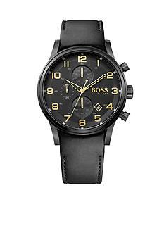 BOSS by Hugo Boss Men's Blackout Aeroliner Quartz Chronograph Watch