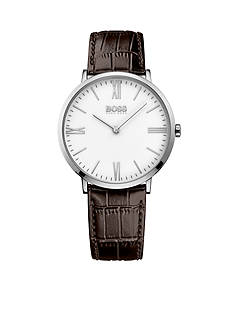 BOSS by Hugo Boss Men's Jackson Brown Leather Watch