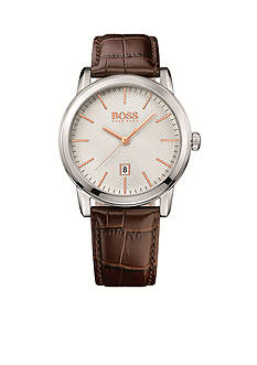 BOSS by Hugo Boss Men's Classic Brown Leather Watch