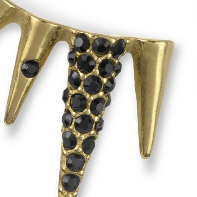 Stud Earrings: Black/Gold Sam Edelman Pave Spiked Ear Cuff Earrings