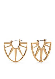 Trina Turk Gold-Tone Small Sunburst Hoop Earring