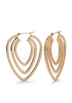 Trina Turk Pierced Openwork Triple Hoop Earring