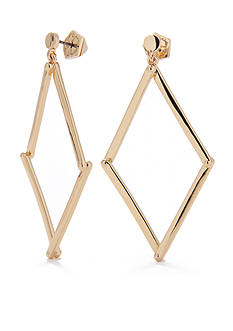 Trina Turk Pierced Diamond Open Drop Earring