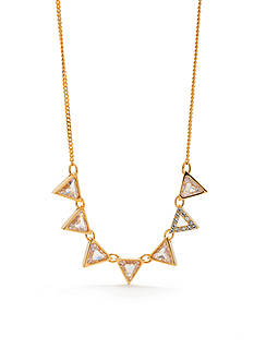 Trina Turk Triangle Stone Frontal Necklace