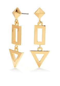 Trina Turk Pierced Geometric Linear Drop Earrings