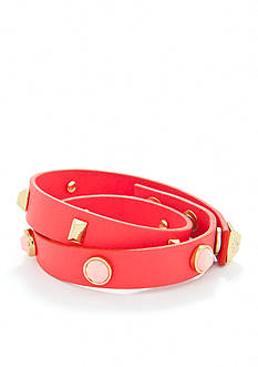 Trina Turk Double Wrap Leather Bracelet