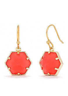 Trina Turk Hexagon Stone Drop Earring