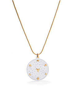 Trina Turk Textured Medallion Pendant Necklace