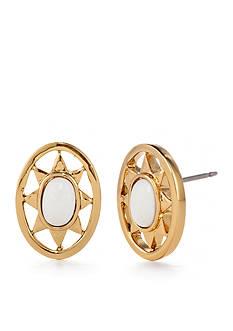 Trina Turk Gold-Tone Sunburst Stone Stud Earring