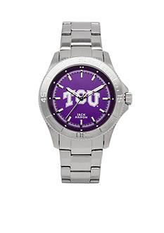 Jack Mason TCU Men's Sport Bracelet Team Color Dial Watch
