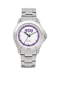 Jack Mason Men's TCU Sport Bracelet Silver Dial Watch
