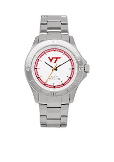 Jack Mason Men's Virginia Tech Sport Bracelet Silver Dial Watch