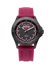 Jack Mason Men's Mississippi State Blackout Silicone Strap Watch