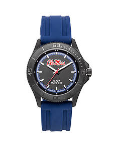 Jack Mason Men's Ole Miss Blackout Silicone Strap Watch