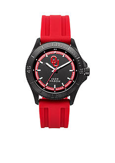 Jack Mason Men's Oklahoma Blackout Silicone Strap Watch