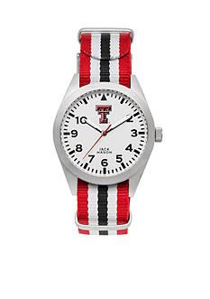 Jack Mason Women's Texas Tech Nato Striped Strap Watch