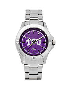 Jack Mason Women's TCU Sport Bracelet Team Color Dial Watch