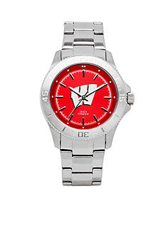 Jack Mason Women's Wisconsin Sport Bracelet Team Color Dial