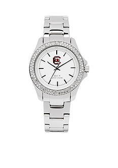Jack Mason Women's South Carolina Glitz Sport Bracelet Watch