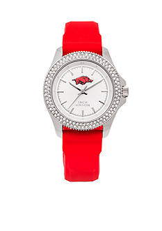 Jack Mason Women's Arkansas Glitz Silicone Strap Watch