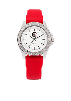Jack Mason Women's South Carolina Glitz Silicone Strap Watch
