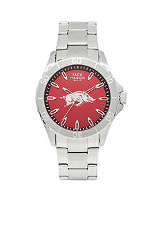 Jack Mason Men's Arkansas Sport Bracelet Team Color Dial Watch