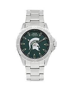 Jack Mason Men's Michigan State Sport Bracelet Team Color Dial Watch