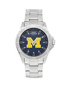 Jack Mason Men's Michigan Sport Bracelet Team Color Dial Watch