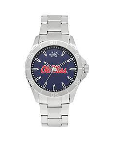 Jack Mason Men's Ole Miss Sport Bracelet Team Color Dial Watch