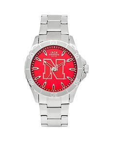 Jack Mason Men's Nebraska Sport Bracelet Team Color Dial Watch