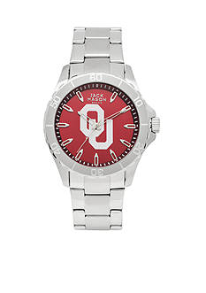 Jack Mason Men's Oklahoma Sport Bracelet Team Color Dial Watch