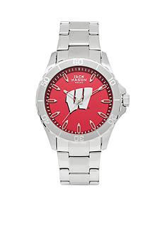 Jack Mason Men's Wisconsin Sport Bracelet Team Color Dial Watch