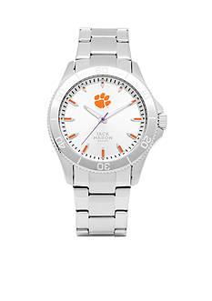 Jack Mason Men's Clemson Sport Bracelet Silver Dial Watch