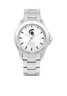 Jack Mason Men's Michigan State Sport Bracelet Silver Dial Watch