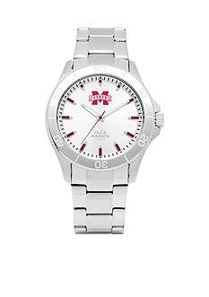 Jack Mason Men's Mississippi State Sport Bracelet Silver Dial Watch