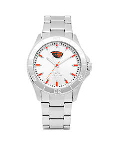 Jack Mason Men's Oregon State Sport Bracelet Silver Dial Watch