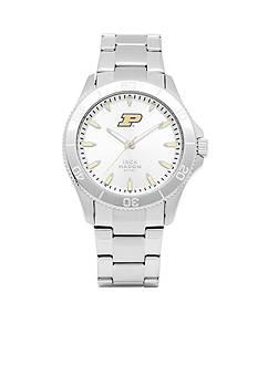 Jack Mason Men's Purdue Sport Bracelet Silver Dial Watch