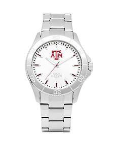 Jack Mason Men's Texas A&M Sport Bracelet Silver Dial Watch