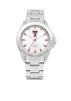 Jack Mason Men's Texas Tech Sport Bracelet Silver Dial Watch