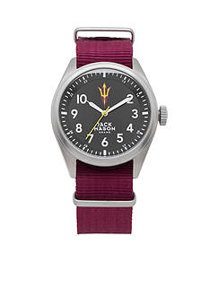 Jack Mason Men's Arizona State Nato Solid Strap Watch