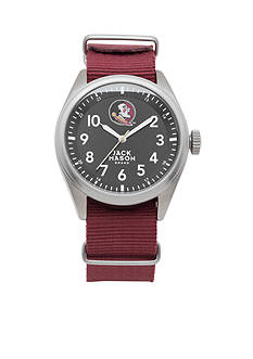 Jack Mason Men's Florida State Nato Solid Strap Watch