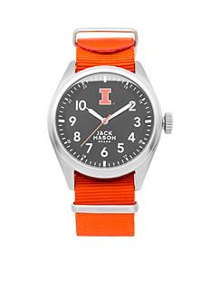 Jack Mason Men's Illinois Nato Solid Strap Watch