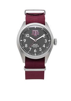 Jack Mason Men's Texas A&M Nato Solid Strap Watch