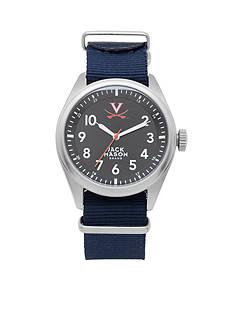 Jack Mason Men's Virginia Nato Solid Strap Watch